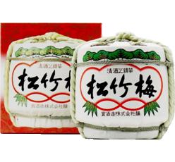 松竹梅上撰清酒1.8L酒樽